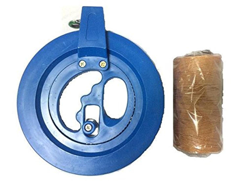 子供向け 直径15cm 回転リール カイト用 糸巻き 100m凧糸 スイベル 凧 たこあげ 水糸にも