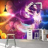 Xueshao カスタム写真の壁紙3Dクールミュージックダンスガールワイン壁画Ktvバールーム装飾されたリビングルームの壁壁紙-120X100Cm