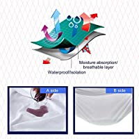 快適な人間工学的デザイン防水通気性マットレスカバー保護深型シーツ低刺激性ベッドパッド