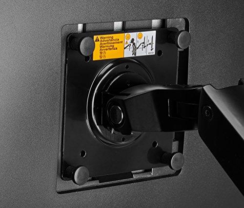 『Amazonベーシック モニターアーム デュアル ディスプレイタイプ (モニターサイズ:27インチまで)』の5枚目の画像