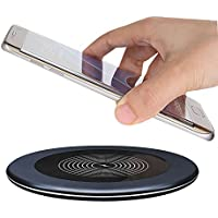 Eonfine Qi ワイヤレス充電器 置くだけ充電 ワイヤレス チャージャー 無線充電パット スマホ 充電 急速充電 iPhone X / iPhone 8 / iPhone 8 Plus / Galaxy Note 8/S8/S8 Plus/S7/S7 Edge/Note 5/S6 Edge Plus その他QI対応機種
