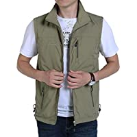 Gihuo Men's Casual Outdoor Lightweight Quick Dry Travel Vest Outerwear