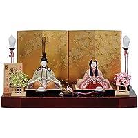 人形工房天祥 雛人形 2018年 新作 一秀 木目込み人形 親王飾り 平飾り 麗雅雛17号 伝統工芸産業品