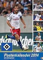 HSV Posterkalender 2014: Jahresuebersicht 2014 mit Spielergeburtstagen