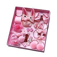 Chinashow 18個 /パック美しいレディースヘアクリップ新生児、幼児や子供 ピンク ウサギ ヘアピンセットギフト
