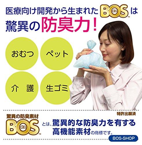 驚異の防臭袋 BOS (ボス) うんちが臭わない袋 猫用うんち処理袋【袋カラー:ブルー】 (Sサイズ 200枚入)