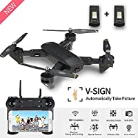 Drone with Camera Live Video BIZONOD SG700 WIFI FPV Rc Quadcopter with Dual 2.0MP Optical Flow Camera Auto-photograph Folding RTF Remote Control Helicopter Toy for eginners Kids,Bonus Battery
