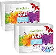 Kids Bath Bombs Gift Set with Surprise Toys Inside (6 Count x 5oz) Fun Assorted Colored XL Bath Fizzies, Kid S
