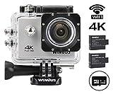 WIMIUS 4K 16MP アクションカム Wi-Fi 防水 ウェアラブルカメラ 多機能