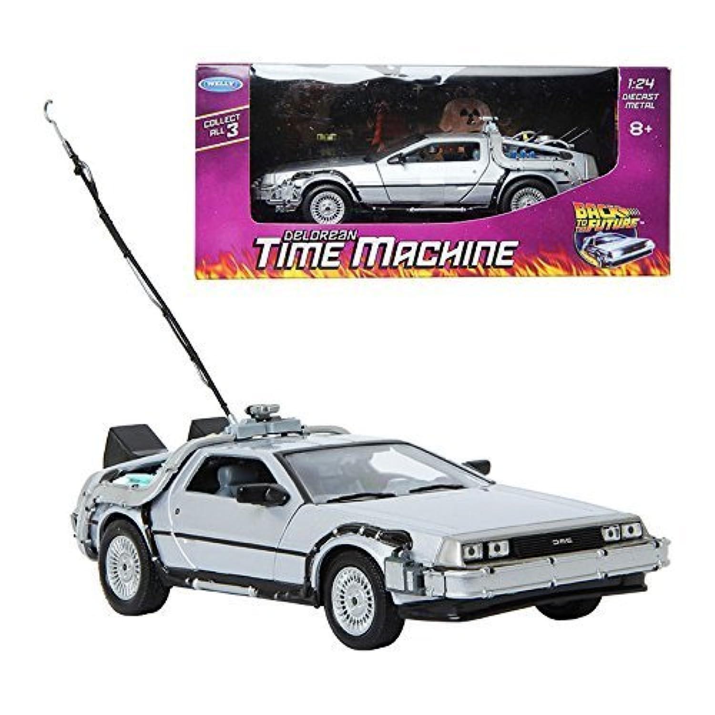 WELLY 1:24 Back To The Future Delorean Time Machine ダイキャストメタルおもちゃのモデルカー [並行輸入品]