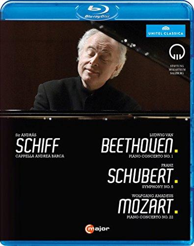 モーツァルト週間 2015ライヴ ~ ベートーヴェン : ピアノ協奏曲 第1番 | シューベルト : 交響曲 第5番 | モーツァルト : ピアノ協奏曲 第22番 (Ludwig Van Beethoven : Piano Concerto No.1 | Franz Schubert : Symphony No.5 | Wolfgang Amadeus Mozart : Piano Concerto No.22 / Sir Andras Achiff | Cappella Andrea Barca) [Blu-ray] [輸入盤] [日本語帯・解説付]