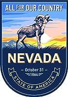 状態Animal Nevada日3.5X 2.5インチステッカーデカールDie Cutビニール–、アメリカで発送
