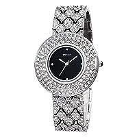 ZHANGZZ 美しいSKONE時計 ブレスレットウォッチダイヤモンドウォッチダイヤモンドウォッチレディースウォッチ (Color : 2)