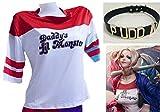 RedFrogs ハーレイクインTシャツ Suicide Squad  Tシャツ+チョーカーセット /ジャンパー 単品もあり (TシャツM+チョーカー黒)