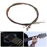 カラフルなアコースティックギター文字列、6pcs e-aレインボーマルチカラーギターStrings forクラシックギター