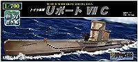 童友社 1/700 世界の潜水艦シリーズ No.9 ドイツ海軍 Uボート VIIC プラモデル