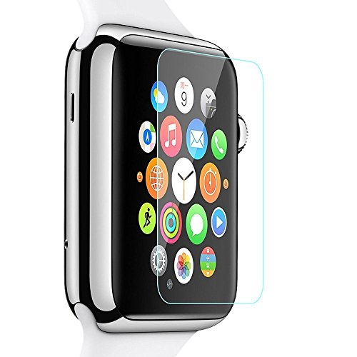 RoiCiel Apple Watch 42mm液晶保護強化ガラスフィルム アップルウォッチ 硬度9H 超薄0.15mm 2.5D ラウンドエッジ加工 (Apple Watch 42mm)