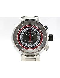 (ルイヴィトン)LOUIS VUITTON 腕時計タンブール ヴォワイヤージュ クロノグラフ 世界限定888本 Q102C SS 中古