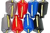 汎用 ナックル ガード 左右 取付金具 セット 【ADVANTAGE】 バイク 防風 防寒 ハンド ガード バイザー (スモーク)