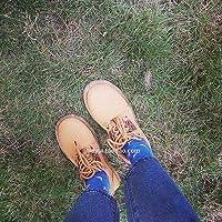 [ノーブランド品] 韓国 アンティーク調 ラウンド マーティンの靴 靴 ひもあり 小さな靴 女 イングランド