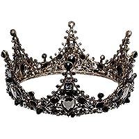 Tiara Girls Black Crown Performance Child Birthday Present Princess Hair Accessories Studio Headwear
