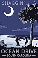 オーシャンドライブ、South Carolina–Palmetto Moon–Shaggin ' 16 x 24 Giclee Print LANT-46804-16x24