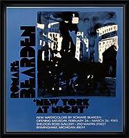 ポスター ロメール ベアデン New York at Night 限定800枚 額装品 ウッドハイグレードフレーム(ブラック)