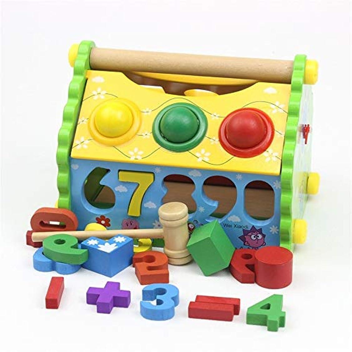 役に立つ資格情報市民権パズル積み木 スロットをソート実効状態の形状を探索するの活動のロードをフィーチャリング6才3のために赤ちゃんのトイ&ギフト 幼児用 (Color : Multi-colored, Size : Free size)