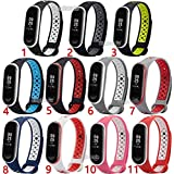 CHOUREN Soft Silicone Sport Band Strap for Xiaomi Mi Band 3 Miband 3 4 (Color : 5)