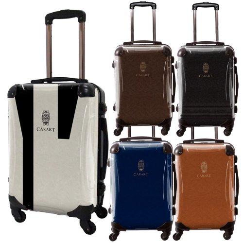 ビジネスアートスーツケース/ナイト/ベーシック/フレーム4輪/TSAロック/機内持込可能/キャラート/紋章/ロゴ/ブラウン ライトブラウン ダークブラウン ネイビー ホワイト モノトーン /CRA01-031