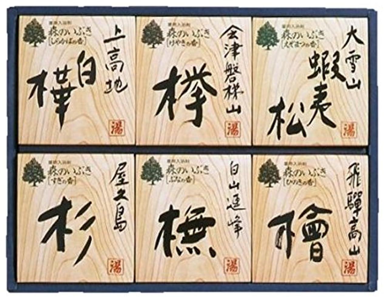 突き刺すモットー描写森のいぶき 薬用入浴剤 6種18包入 ギフトに最適