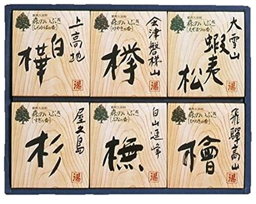 発行する教科書絶壁森のいぶき 薬用入浴剤 6種18包入 ギフトに最適