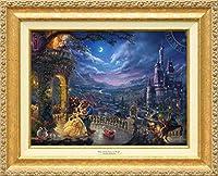 Disney ディズニー/トーマス・キンケード「美女と野獣/ダンシング・イン・ザ・ムーンライト」 作品証明書・展示用フック付キャンバスジークレ 【並行輸入品】