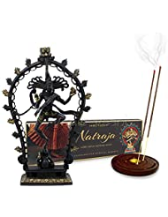 Vedic Vaani Lord Natraj Dancing Shiva Antic Finish Idol with Natraj お香スティック