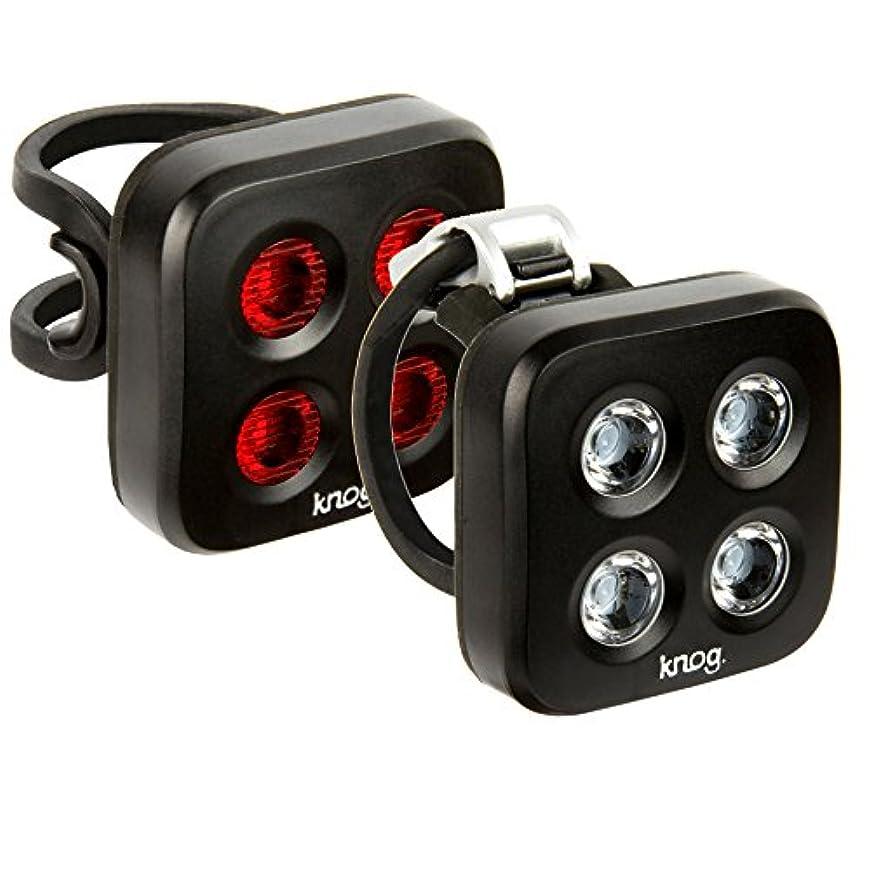 陽気なスペル社交的Knog Blinder Mob The Face Twinpack USB Rechargeable Light, Black by KNOG