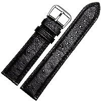 [エイト]腕時計ベルト 21mm ブラック レザー ELB105 [並行輸入品]