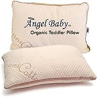 Angel Baby(エンジェル ベビー) オーガニック ベビー枕 - 米国認証PUR(CertiPUR-US)で有害物質を使わず お子様を涼しく保つ ネットサポート付き - 米国Oeko-Tex認証のコットンカバー 低刺激 低アレルゲン 13X18インチ/33cmX45.7cm(ピローケースは別売)