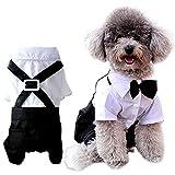 ANSIMITE 蝶ネクタイがめちゃキュート 犬 猫 服 タキシード 燕尾服 黒リボン 小型 中型 大型 サイズいろいろあります ブラック (XL)