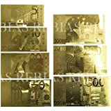 Rebias 輝く ユーロ 紙幣 7枚セット 札 お財布 イベント 景品 おまじない 風水 雑貨 パーティー 幸運 運勢 アップ NS-GOLD-EURO