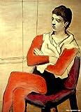 ピカソ 「腕を組んで座る軽業師」 原画同縮尺近似(12号) picasso-02-03