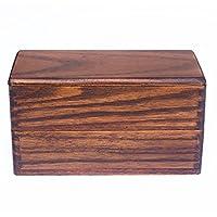 TeFuAnAn 木製   お弁当箱  弁当箱  2段(T型仕切付)  高校生用   ピクニック、ワーキングランチ用 18 * 10cm(弁当箱のみ、箸なし)