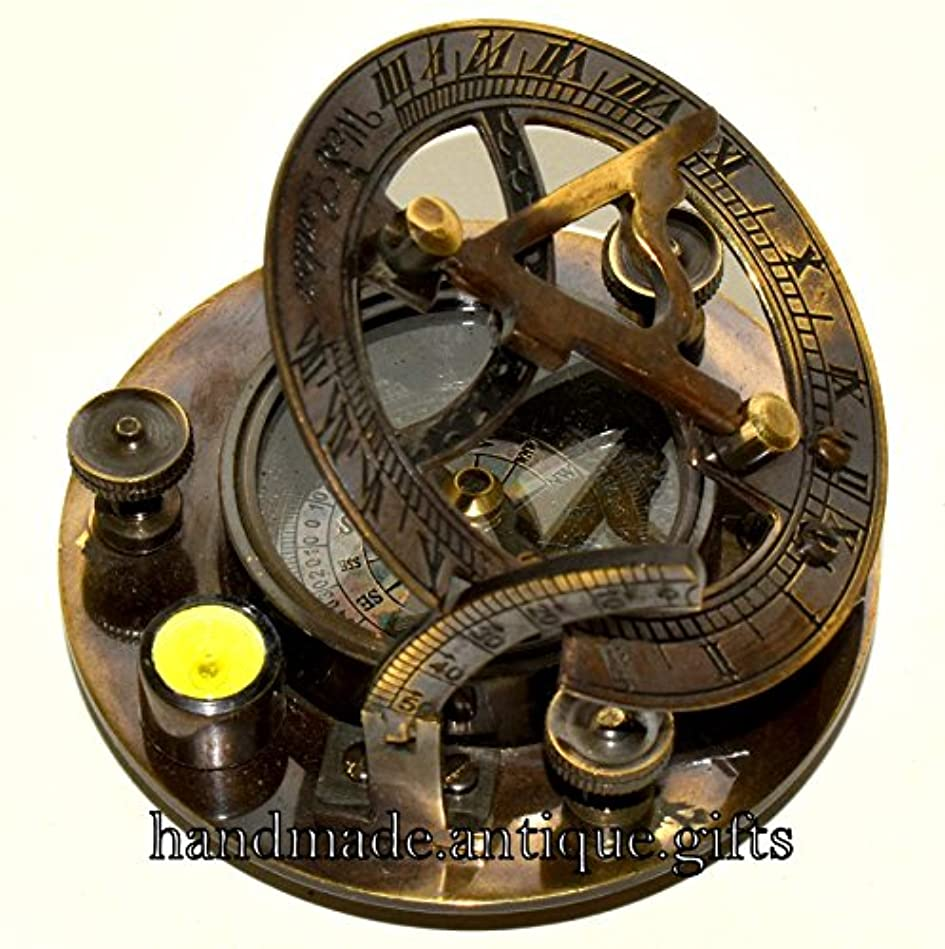 鳩近似本体ソリッド真鍮日時計コンパスポケットコンパス航海の装飾Maritimeギフト