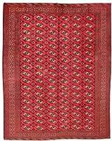 HeSamCrafts 手編み アウンティク レッド ブラック ウール エリアラグ (9フィート7インチ x 12フィート3インチ) 9フィート 12フィート ラグ 幾何学的カーペット ホーム オフィス ラグ 18053031