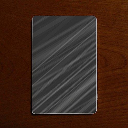モバイルバッテリー PSE対応 2500mAh カードサイズ 超軽量 コンパクト かっこいい 男性 F グレー 線