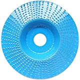 SNOWINSPRING 4 Inch Wood Grinding Wheel Rotary Disc Sanding Wood Carving Tool Abrasive Disc Tools for Angle Grinder 9.7x9.7x1cm