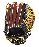 ZETT(ゼット) 野球 軟式 オールラウンド グラブ(グローブ) プロステイタス (右投げ用) BRGB30560 ブラック/チョコブラウン