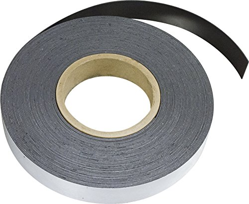 MAG-MATE MRA060X0050X050 Flexible Magnet Material with Adhesive, 0.060 x 1/2 x 50'