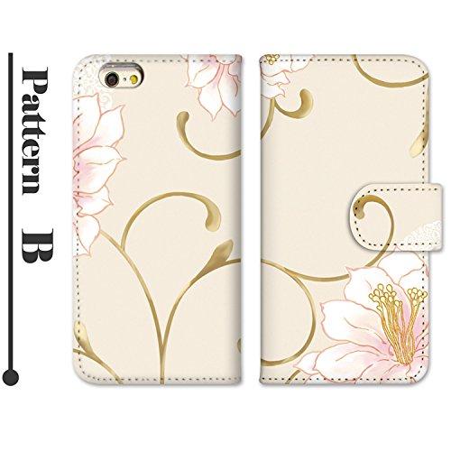 ホワイトナッツ LUMIX Phone 101P スマホケース 手帳型 プリント手帳 パターンB(wn-471) 花柄 UVプリント 全機種対応