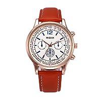 防水紳士ウォッチメビジネス 極薄型 シンプル 日付表示軽量 防水ウォッチ カジュアル ファッショ本革バンド 人気 紳士腕時計