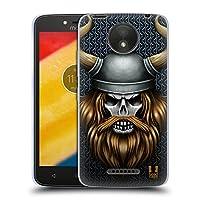 Head Case Designs バイキング スカル・ウォリアーズ Motorola Moto C Plus 専用ソフトジェルケース